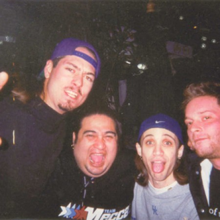 Dino (from Fear Factory) and friends at the Rainbow Room (Los Angeles January 2001)