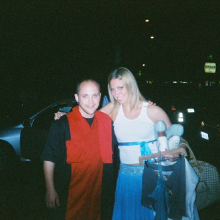 """With Debbie """"Deborah"""" Gibson in Los Angeles (I shook my love right after this shot was taken)"""