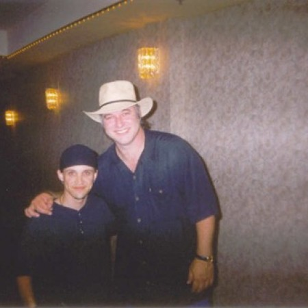 After the show with comedic legend Tim Wilson (R.I.P. Tim!) - Biloxi, Ms. circa 2003