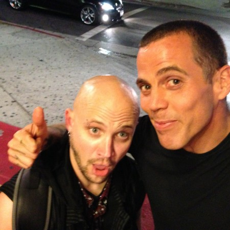 """Just after sharing the stage at the Hollywood Laugh Factory with """"Jackass"""" co-star Steve-O - Los Angeles, Ca. July 2013"""