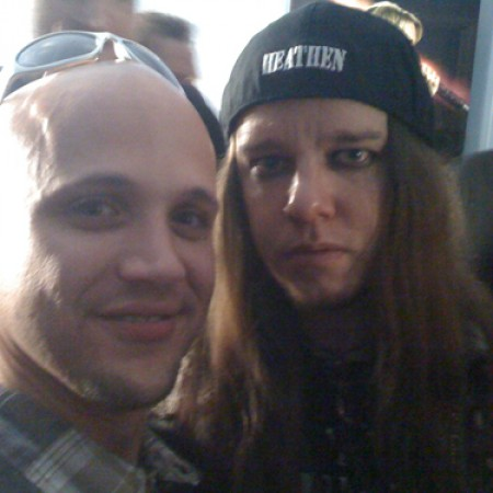 With Joey from Slipknot (Ontario, Ca. April 2009)